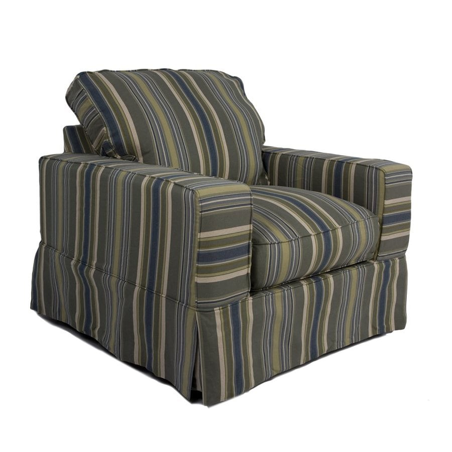 Sunset Trading Americana Casual Nantucket Stripe Club Chair
