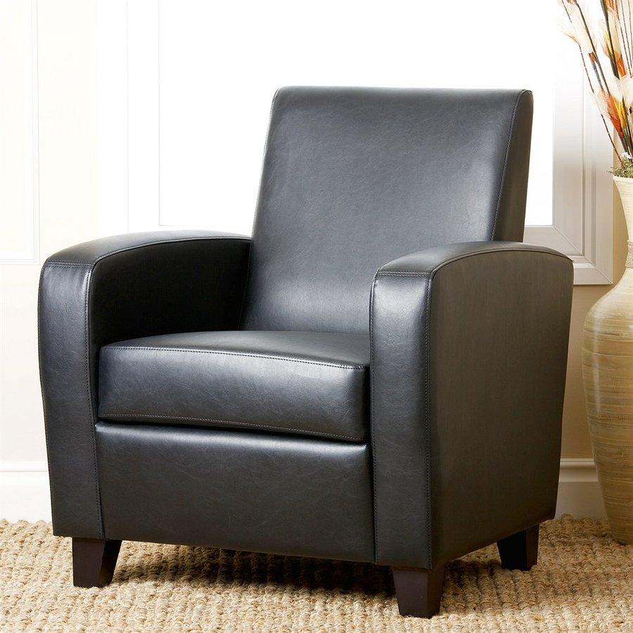 Pacific Loft Mercer Casual Black Faux Leather Club Chair