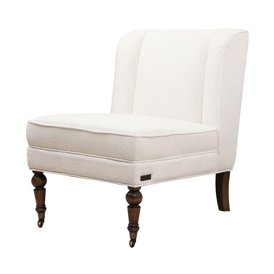 Pacific Loft Monica Casual Ivory Linen Slipper Chair