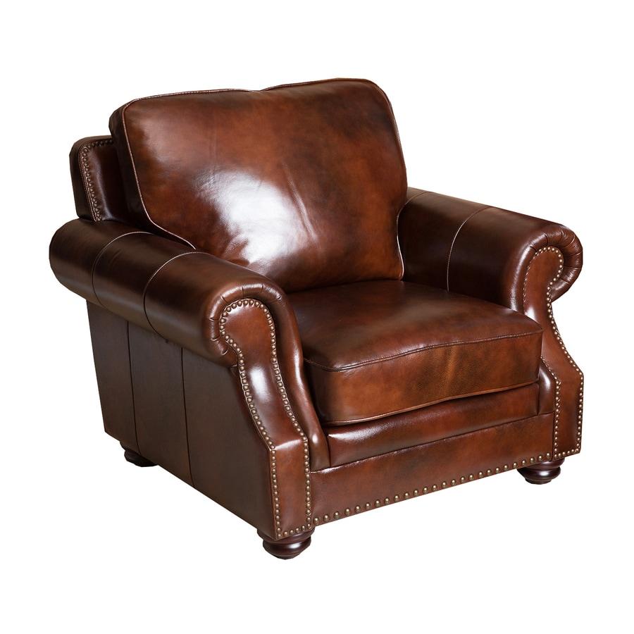 Pacific Loft Karington Casual Tobacco Brown Leather Club Chair