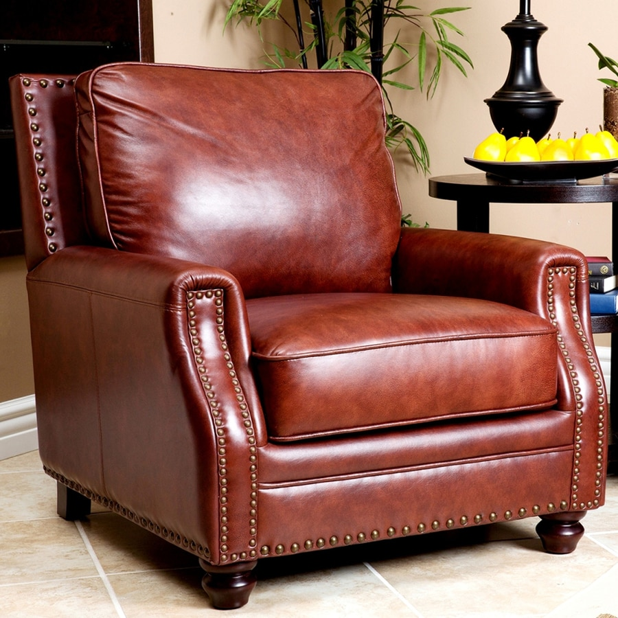 Pacific Loft Bel Air Casual Chestnut Brown Leather Club Chair