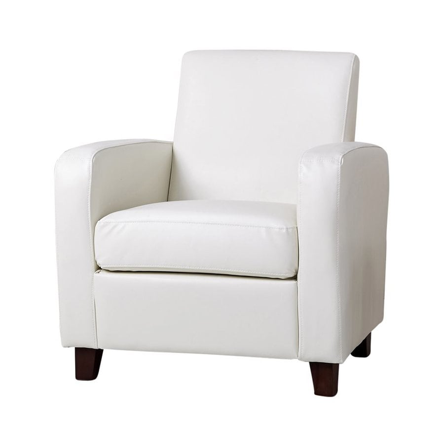 Pacific Loft Mercer Casual Ivory Faux Leather Club Chair
