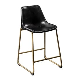 scott living set of 2 industrial matte brass counter stools