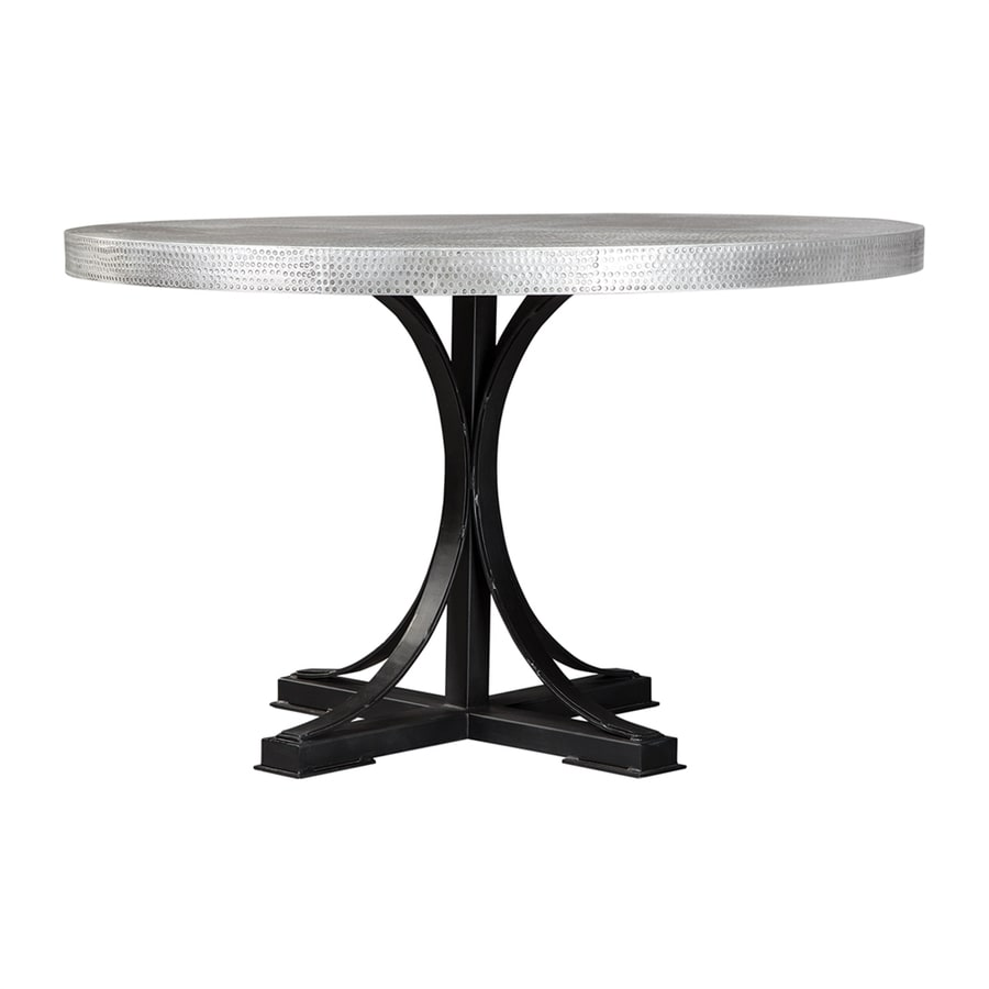 shop scott living zinc metal round dining table at. Black Bedroom Furniture Sets. Home Design Ideas