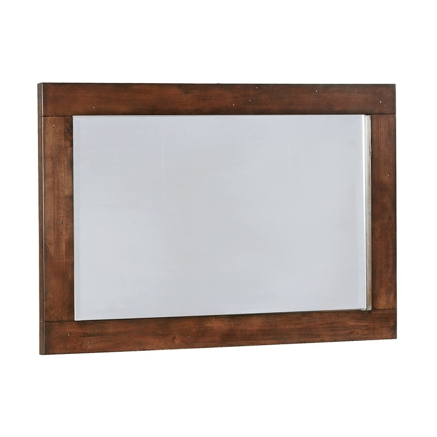 Scott Living Dark Cocoa Polished Vanity Mirror