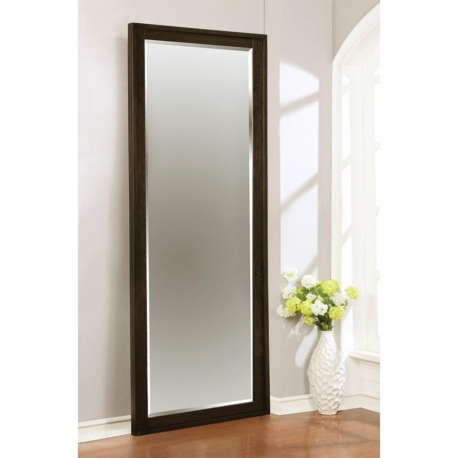 Scott Living Matheson Graphite Beveled Rectangle Floor Mirror