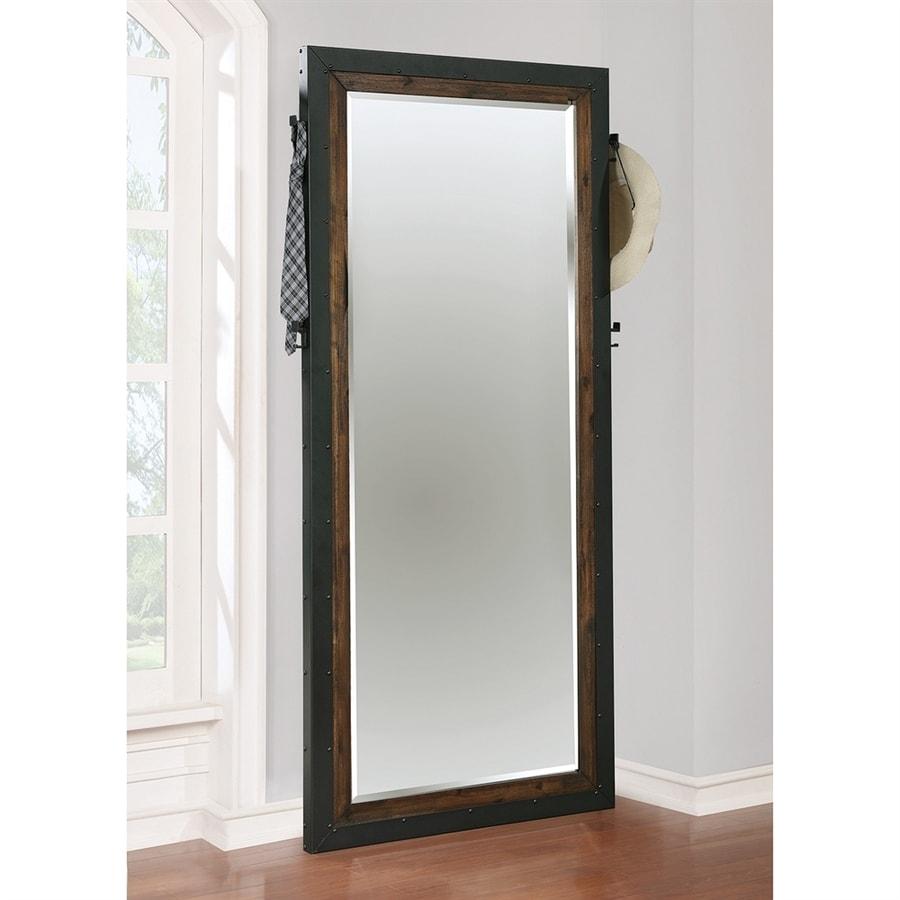 Scott Living Ellison Vintage Bourbon Beveled Rectangle Floor Mirror