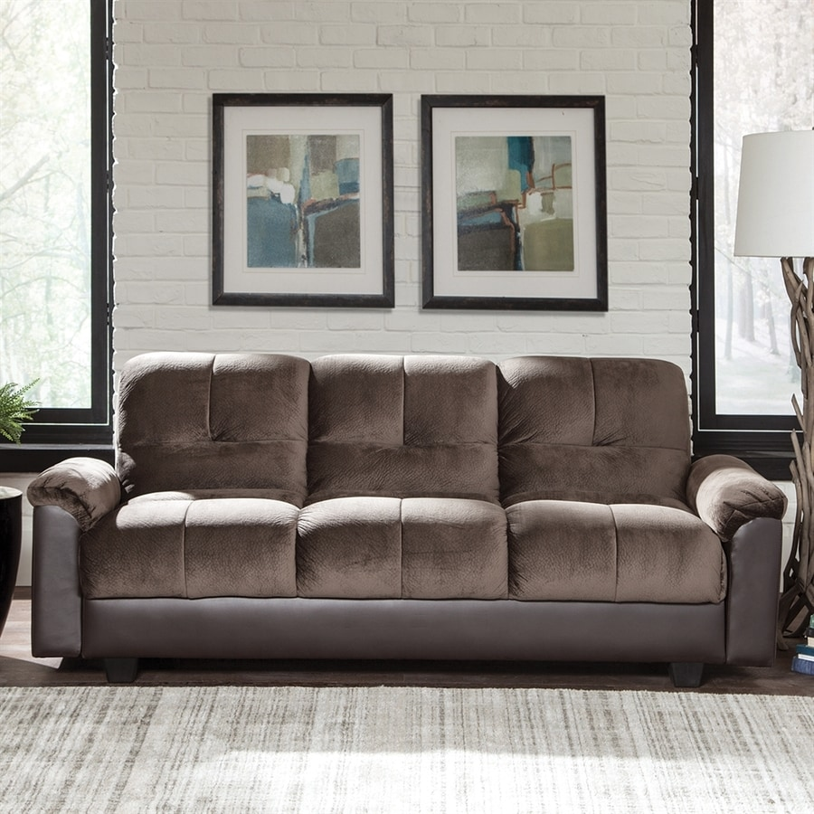 Scott Living Chocolate Vinyl Sofa Bed