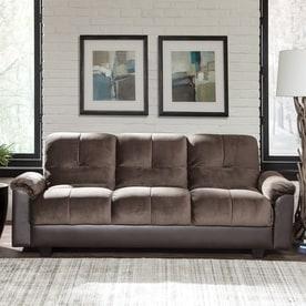 scott living chocolate vinyl sofa bed