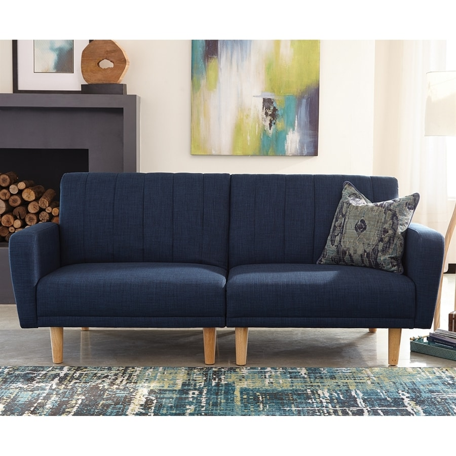 Scott Living Blue Sofa Bed At Lowes Com