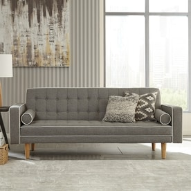 Scott Living Gray/White Sofa Bed