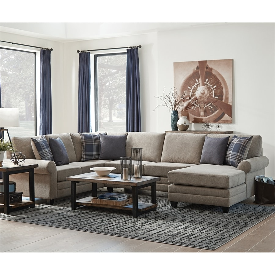 Shop scott living casual wheat sectional at for Open design furniture