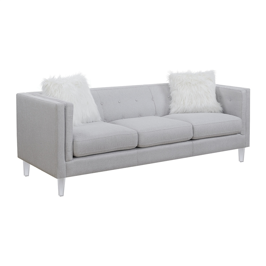 Shop Scott Living Midcentury Light Gray Sofa at Lowes.com