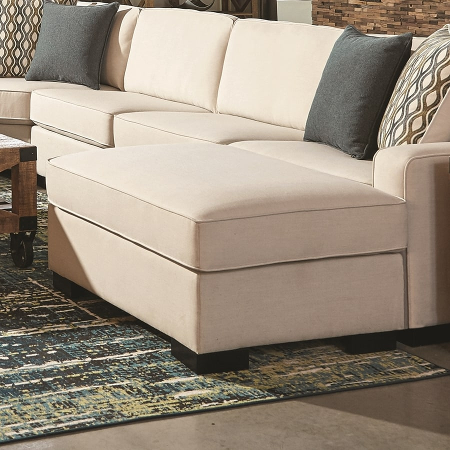 Shop Scott Living Casual Ivory Ottoman at Lowes.com