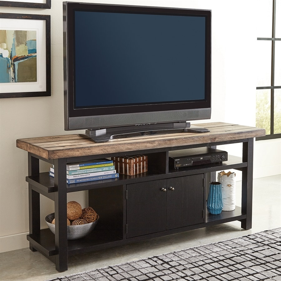 Scott Living Rustic Brown/Black TV Cabinet