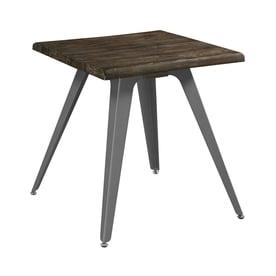 Scott Living Dark Rustic Brown Square End Table