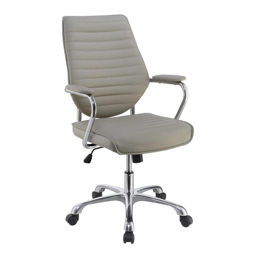 modern office chair shop living taupe contemporary desk chair at lowes 12999