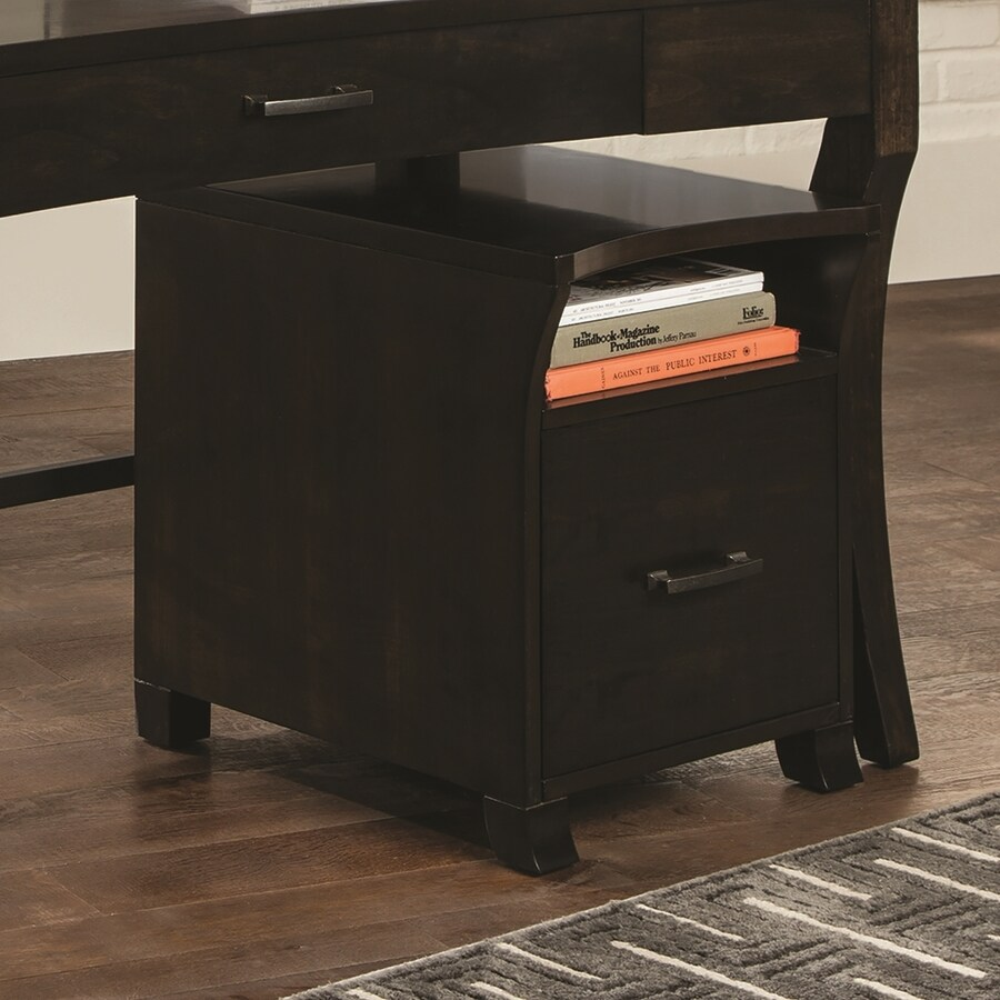 Scott Living Smokey Black 1-Drawer File Cabinet