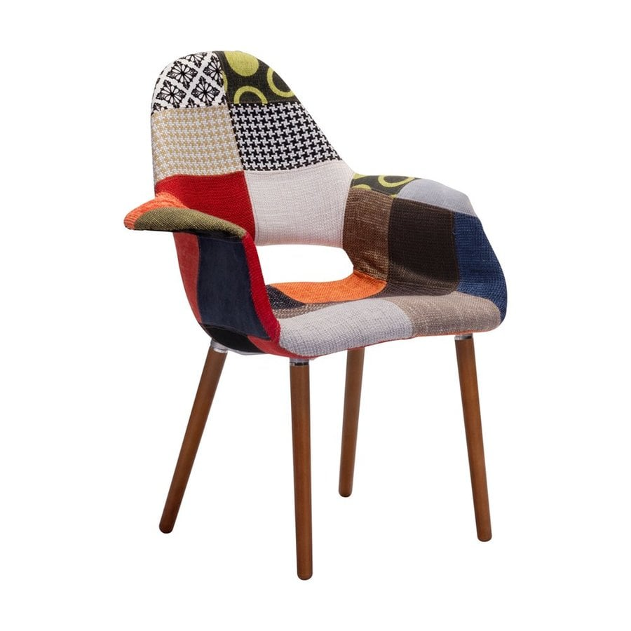 Zuo Modern Moshe Eclectic Patchwork Accent Chair