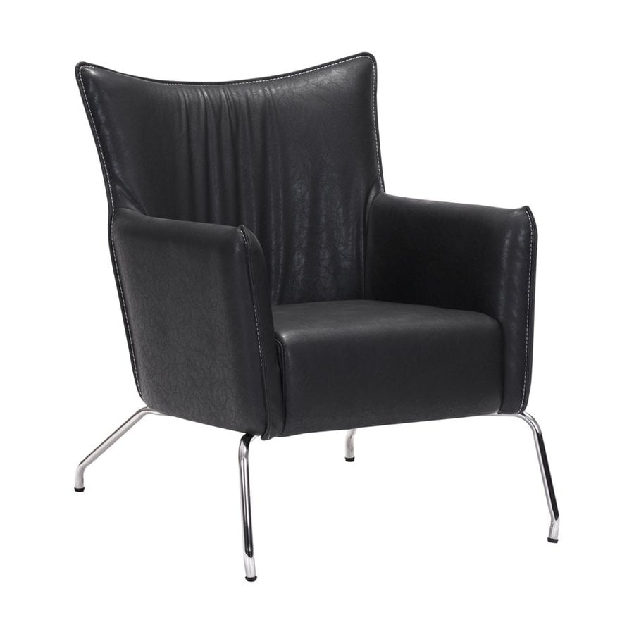 Zuo Modern Ostend Casual Volcano Gray Faux Leather Club Chair