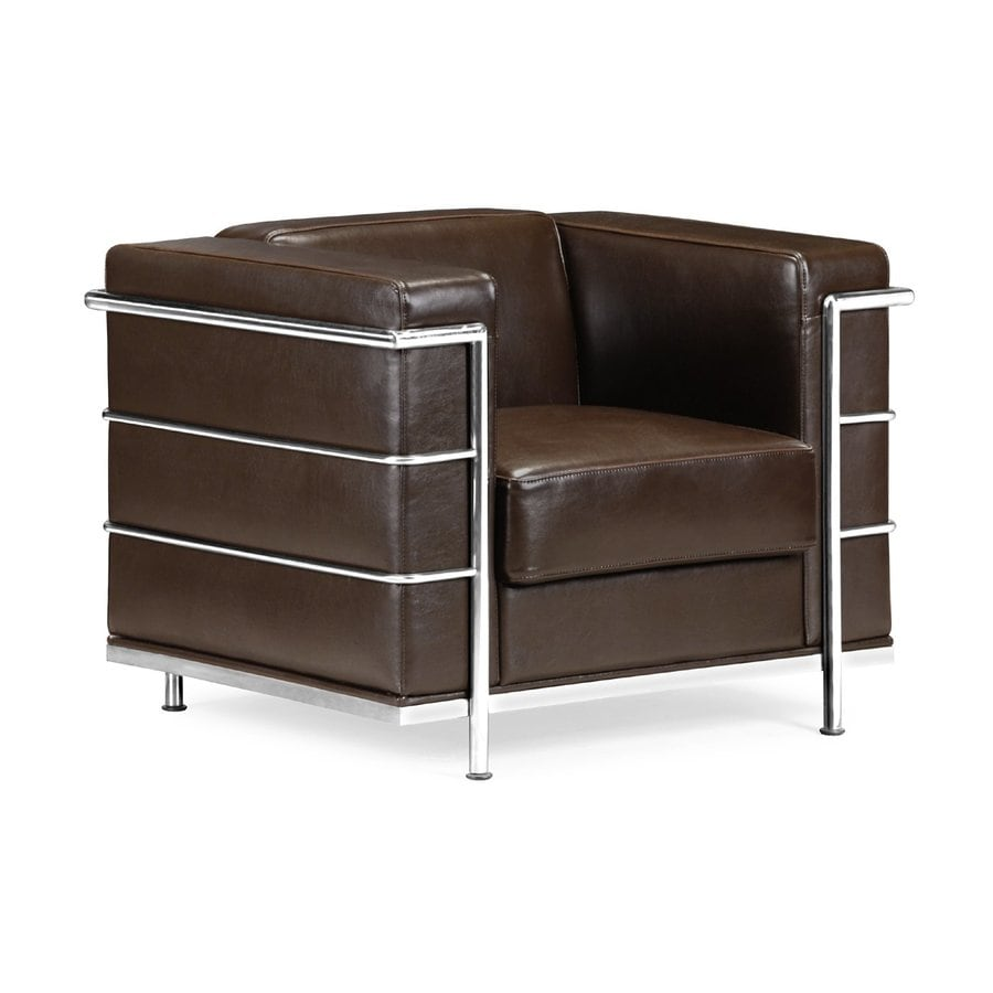 Zuo Modern Fortress Casual Espresso Faux Leather Club Chair