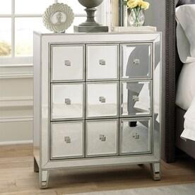 scott living silver mirror sideboard