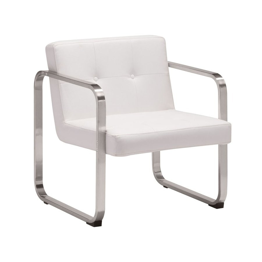 Zuo Modern Varietal Modern White Faux Leather Accent Chair