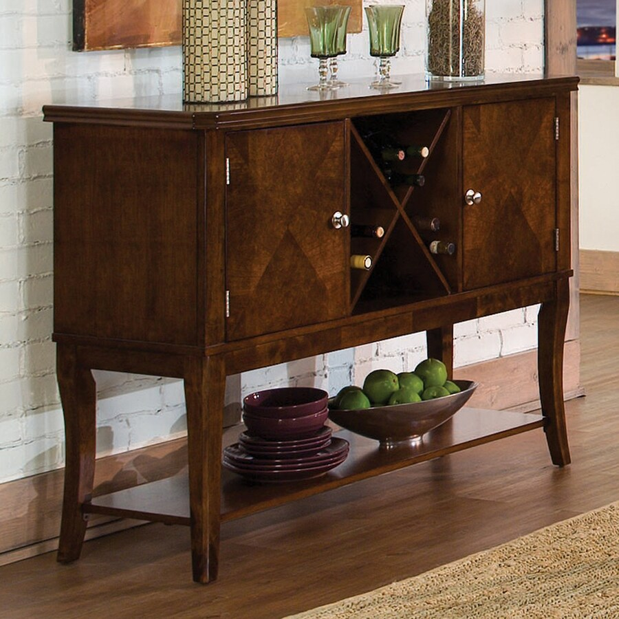 Homelegance Alita Warm Burnished Cherry Sideboard with Wine Storage