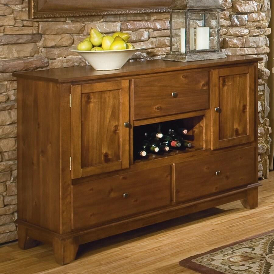 Homelegance Marcel Warm Oak Sideboard with Wine Storage