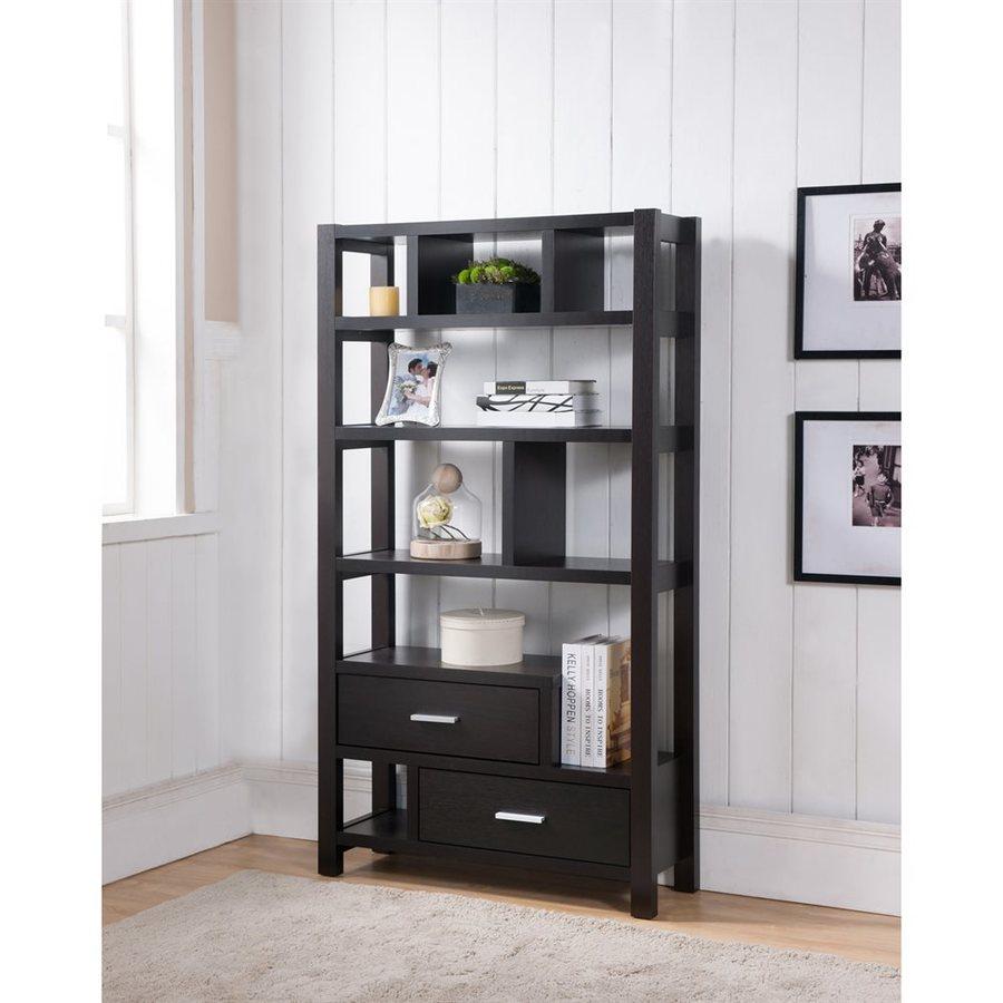 Enitial Lab Rotella Cappuccino 8-Shelf Bookcase