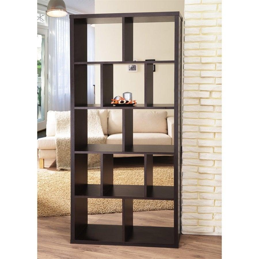Enitial Lab Roque Walnut 12-Shelf Bookcase