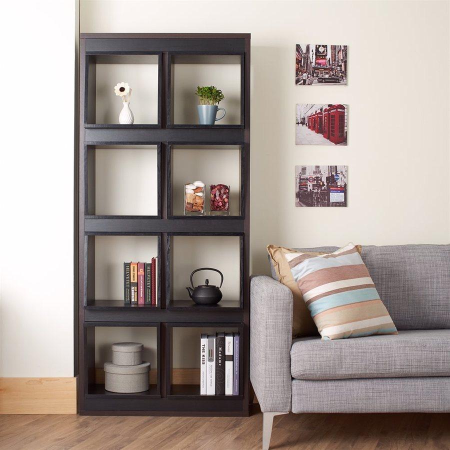 Enitial Lab Duffal Burnish Walnut 8-Shelf Bookcase