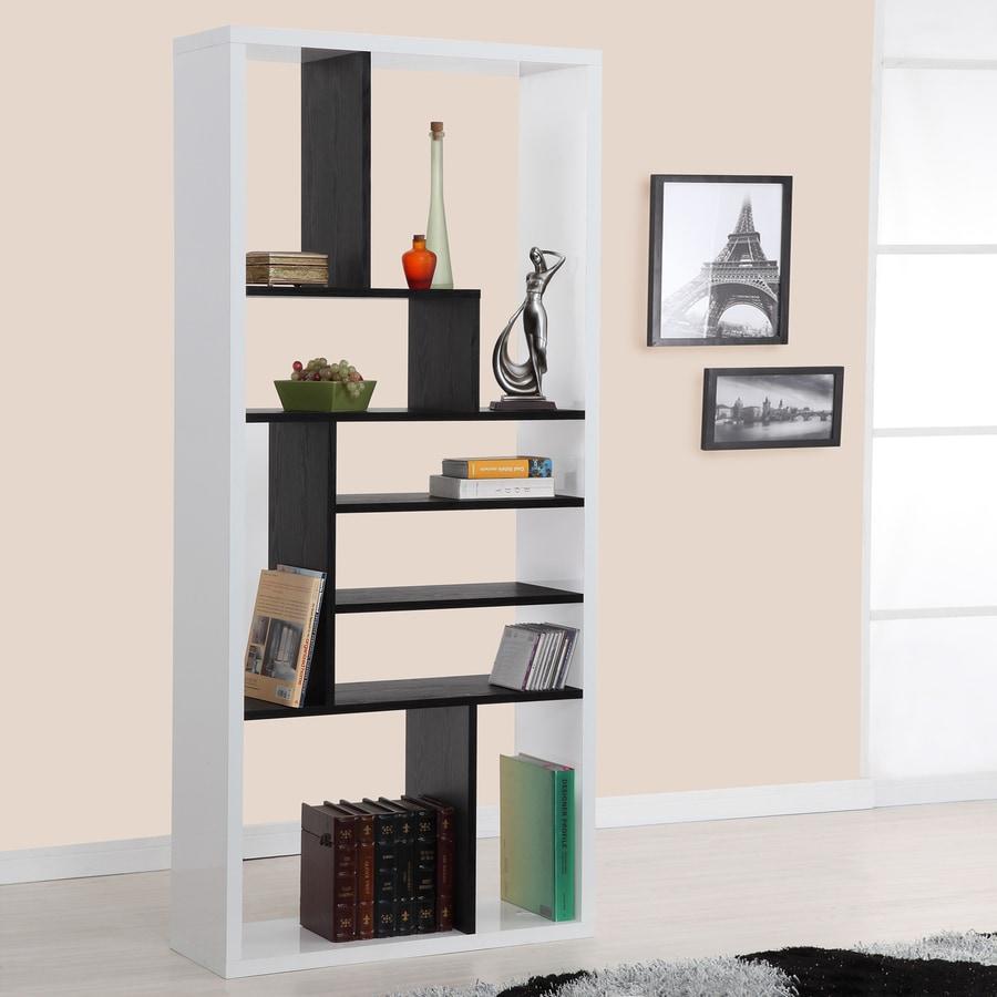 Enitial Lab Amari Black/White 8-Shelf Bookcase