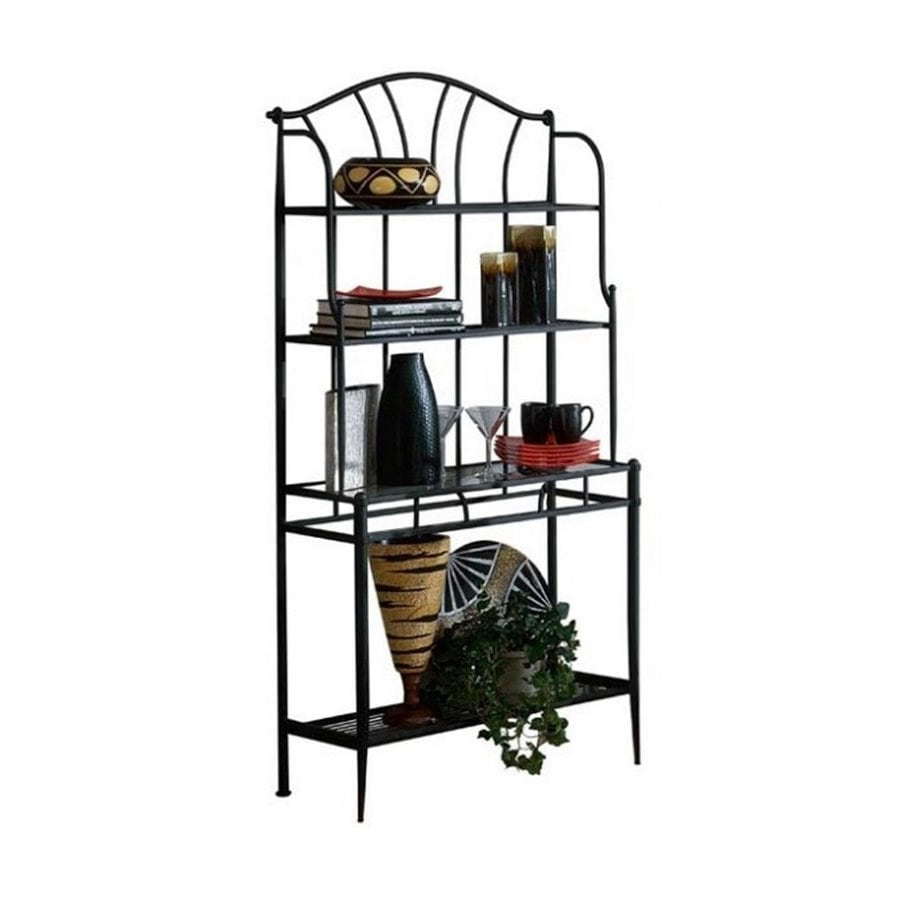 Hillsdale Furniture Mix-n-Match Black Metal Bakers Rack
