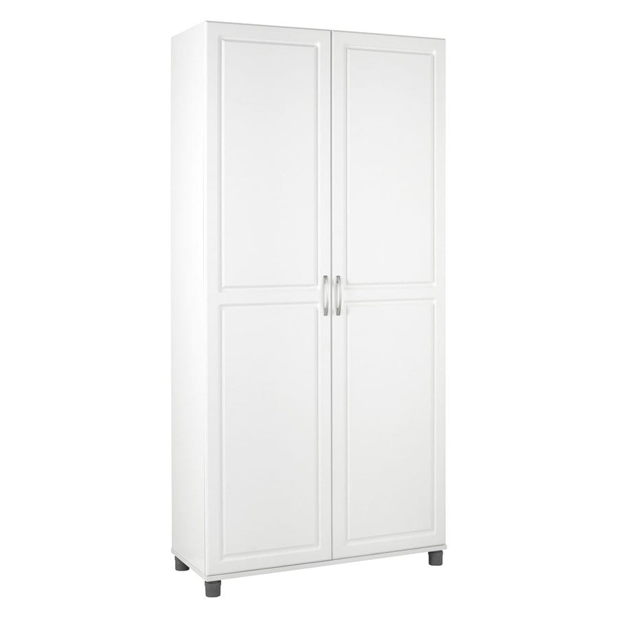 Ameriwood Home 35.69-in W x 75.18-in H x 15.38-in D White Engineered Wood Door Pantry Cabinet