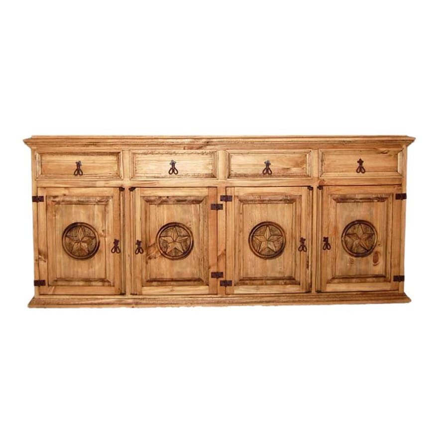 Million Dollar Rustic Star Natural Pine Sideboard