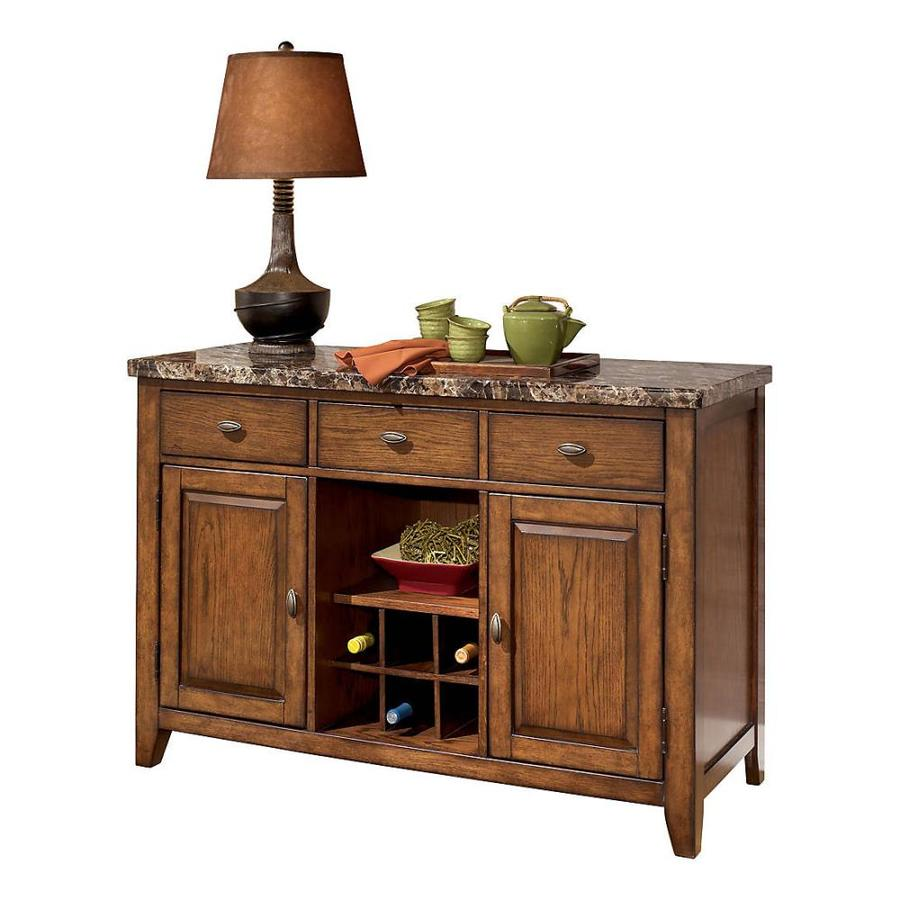Signature Design by Ashley Lacey Medium Brown Sideboard with Wine Storage