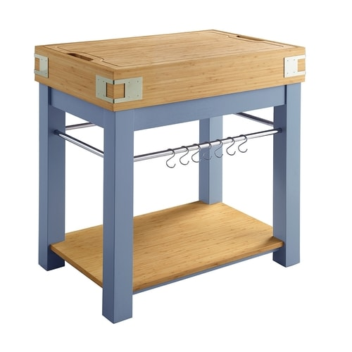 scott living blue modern kitchen island at lowes