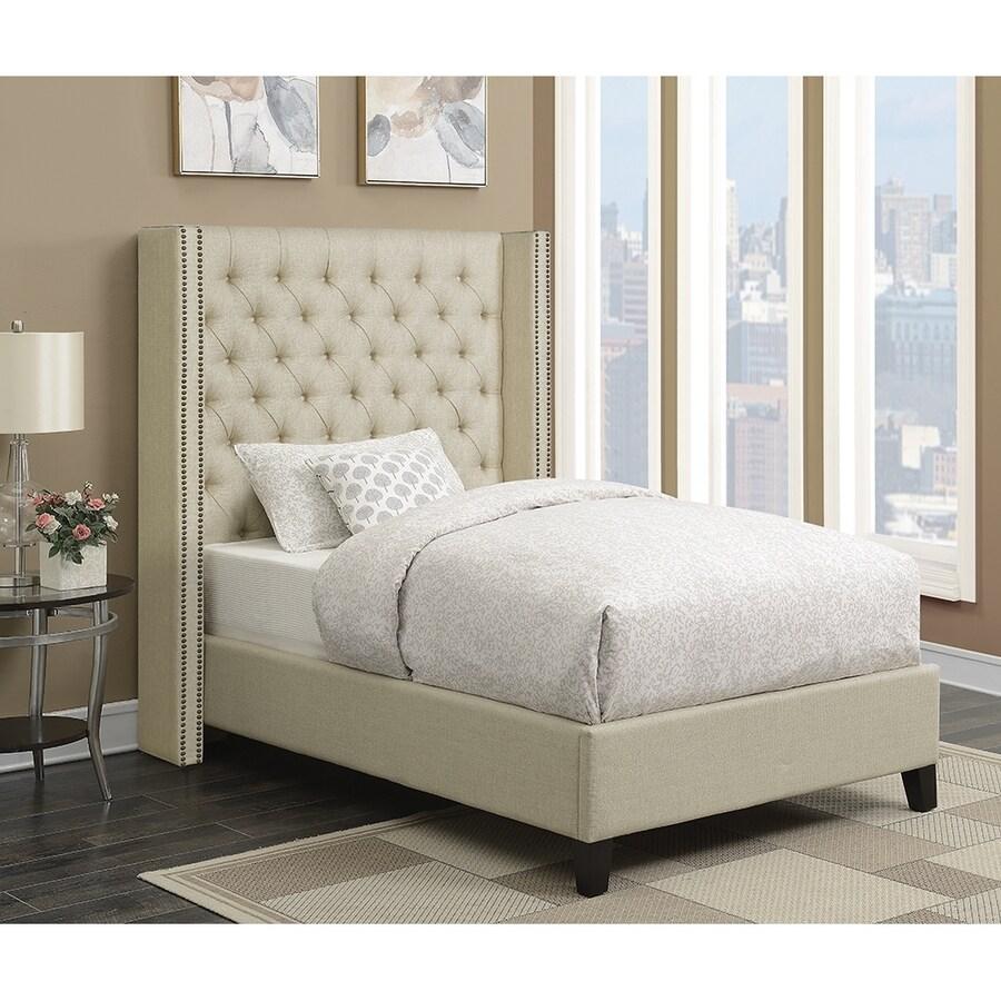 Scott Living Beige California King Upholstered Bed