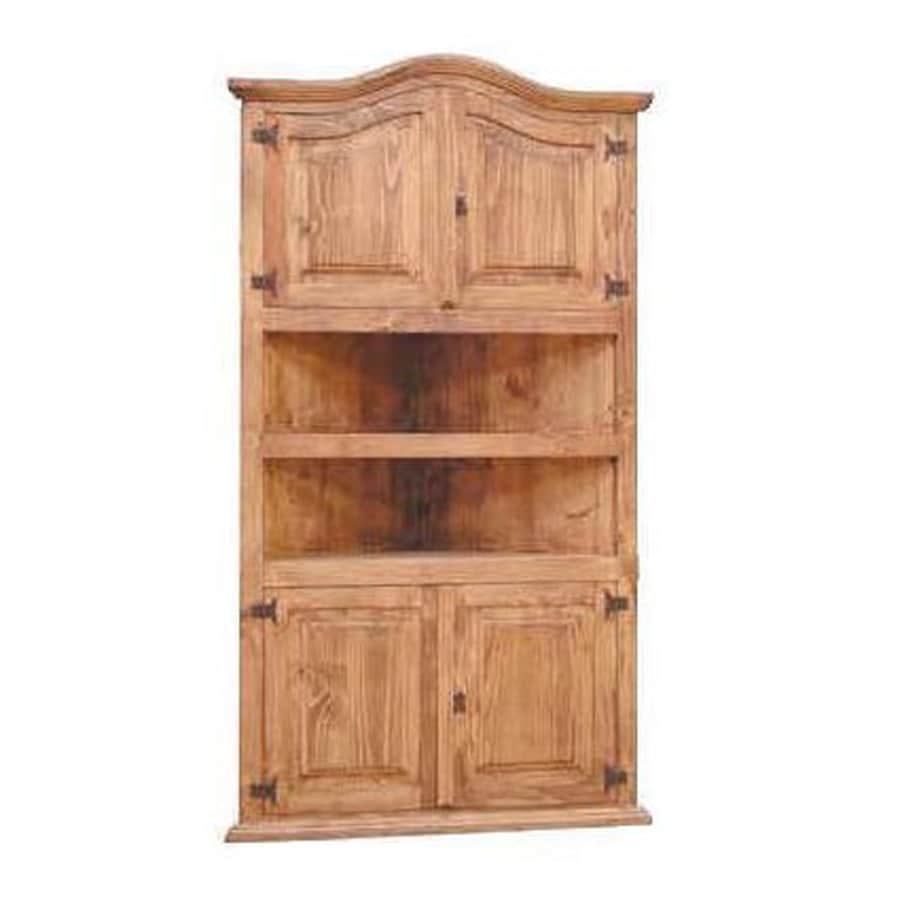Million Dollar Rustic Natural Wood 2-Shelf Bookcase