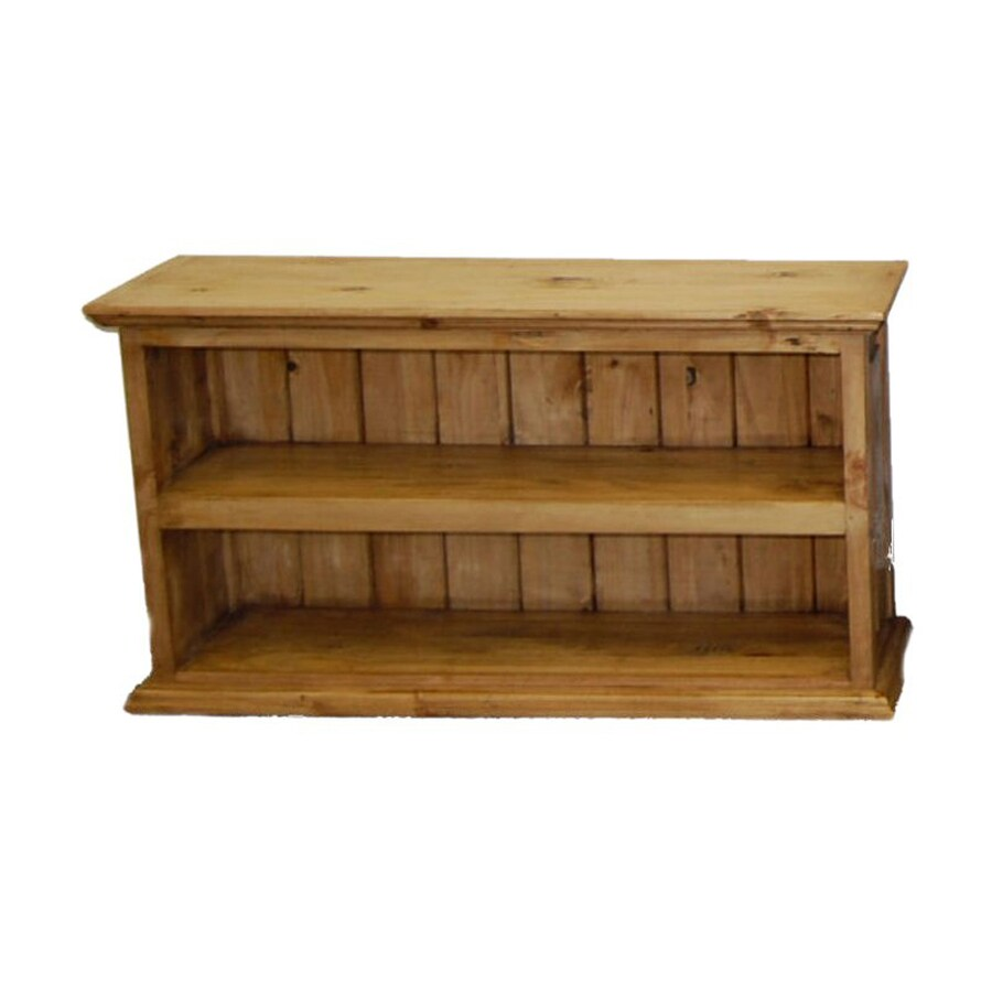 Million Dollar Rustic Natural Wood 2-Shelf Bookcase