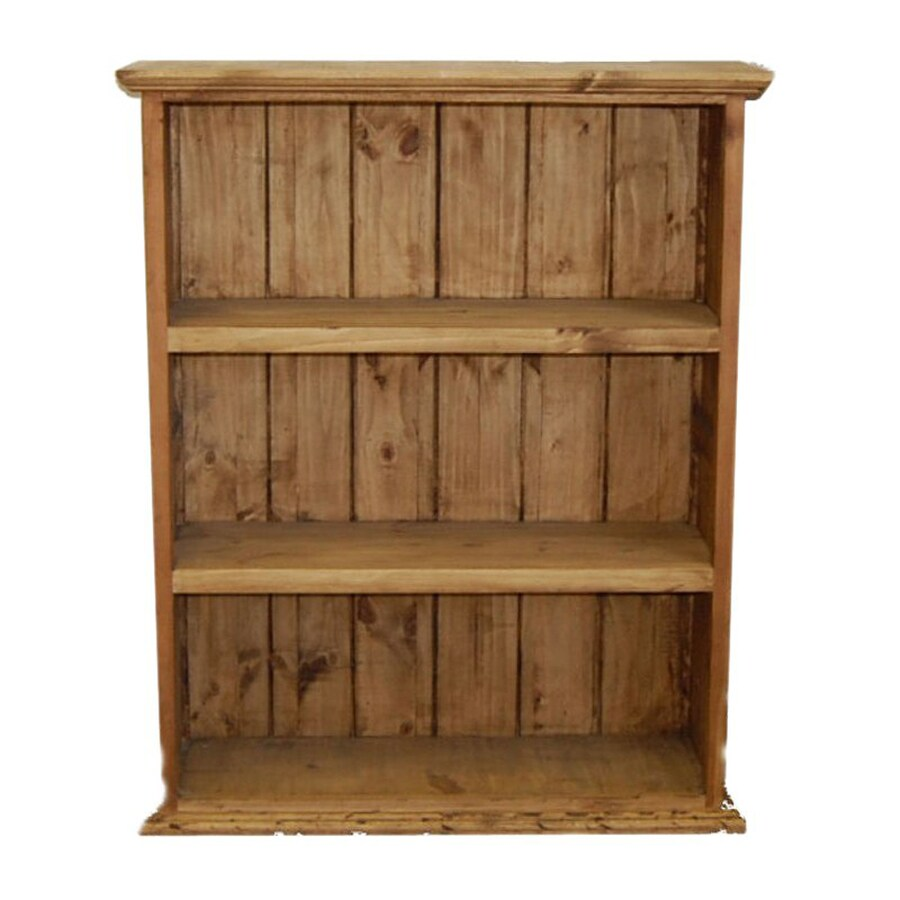 Million Dollar Rustic Natural 3-Shelf Bookcase At Lowes.com