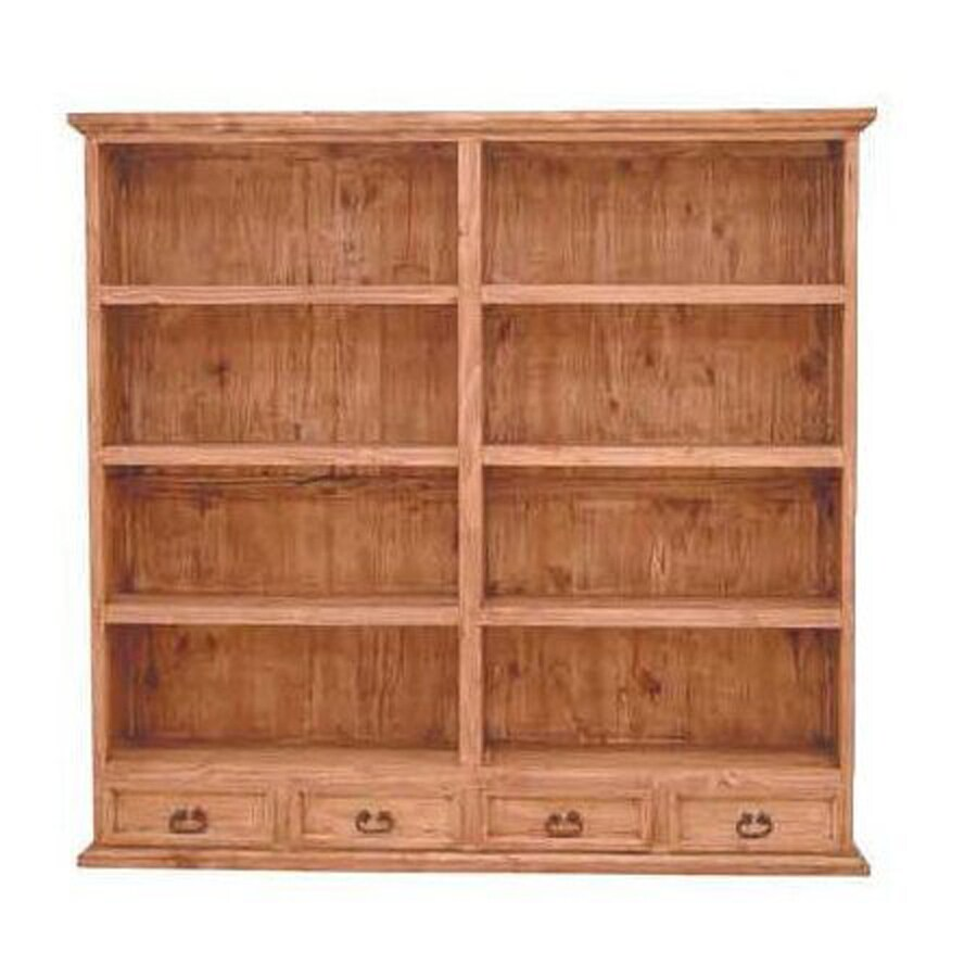 Million Dollar Rustic Natural Wood 8-Shelf Bookcase