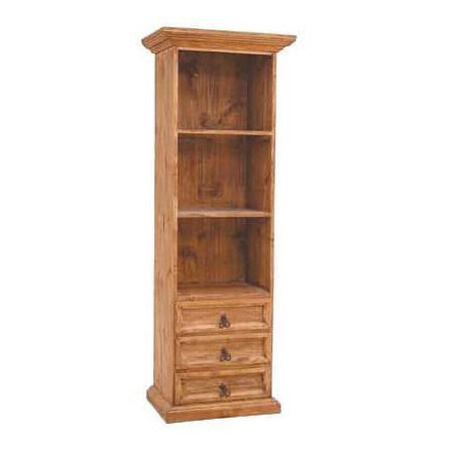 Million Dollar Rustic Natural Wood 3-Shelf Bookcase
