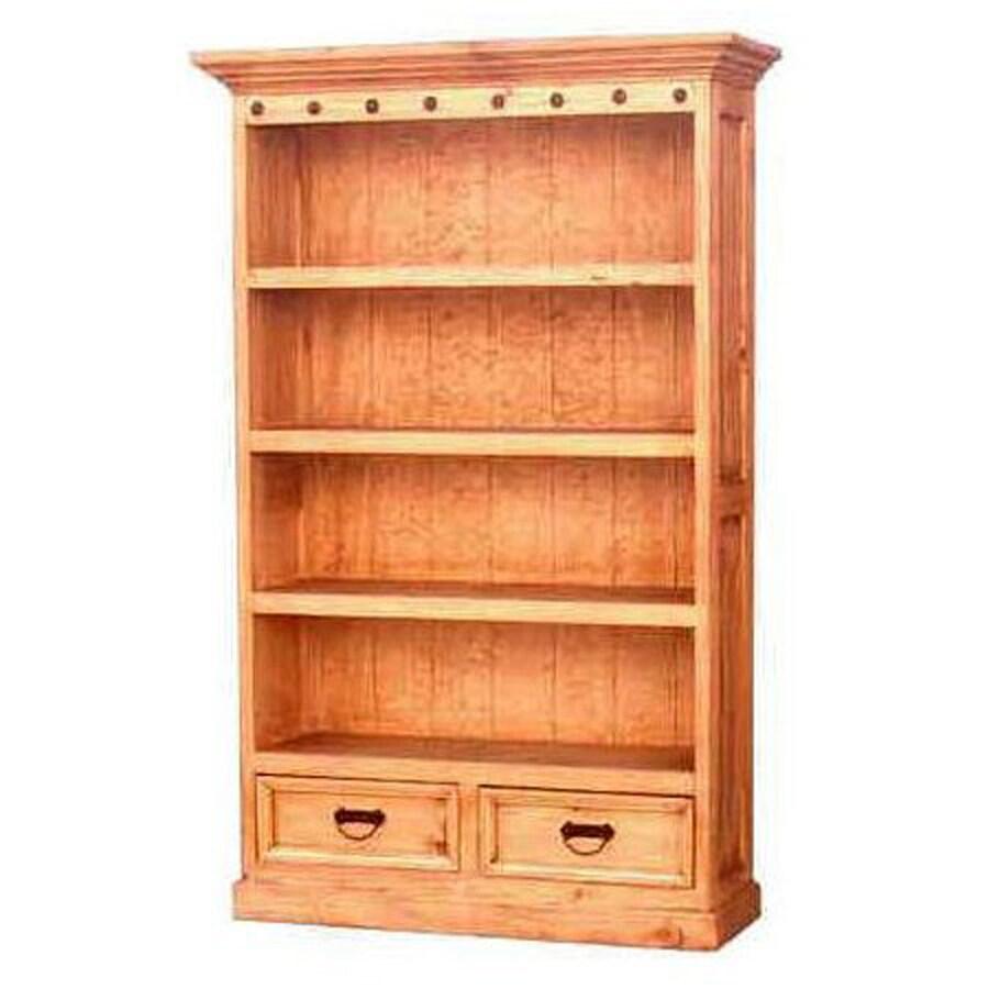 Million Dollar Rustic Primo Natural Wood 4-Shelf Bookcase