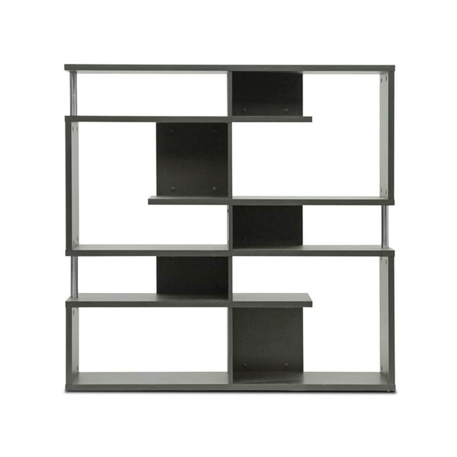 Baxton Studio Kessler Espresso Composite 4-Shelf Bookcase