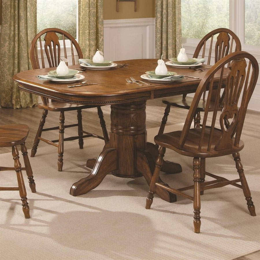 Shop brooks furniture classic american oak wood extending for American furniture dinette sets