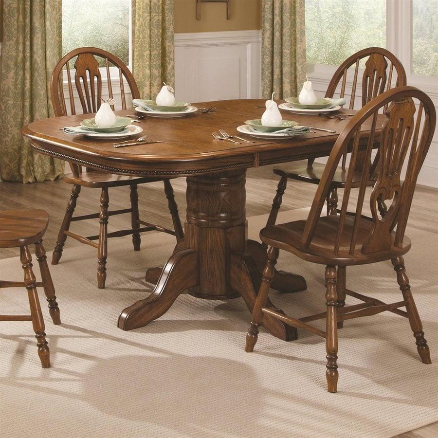 Brooks Furniture Classic American Oak Wood Extending Dining Table