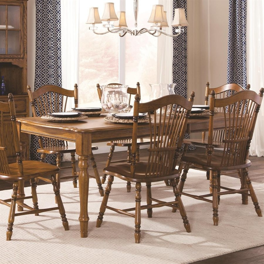Brooks Furniture Classic American Oak Wood Extending Dining Table