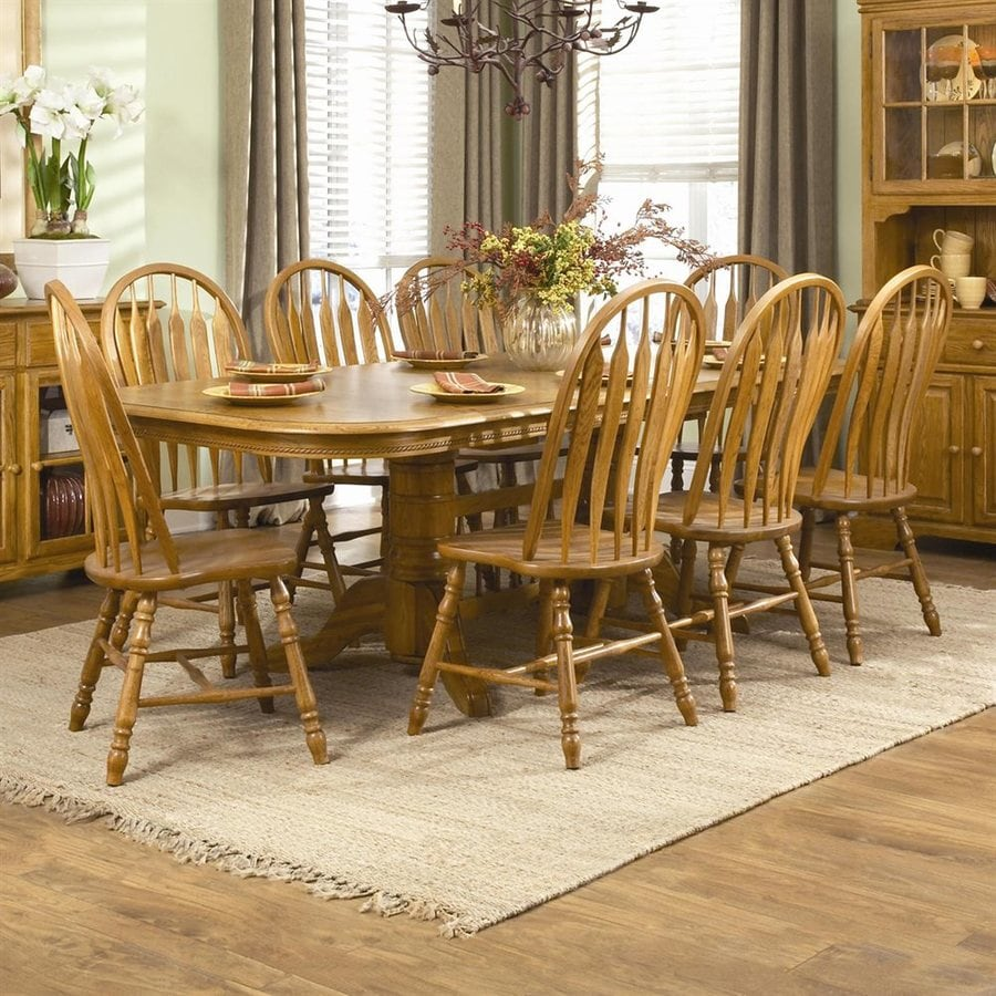 Shop brooks furniture country oak wood extending dining
